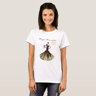 Christmas Fashion Illustration with parcel T-Shirt