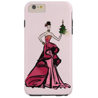Christmas Fashion Illustration with tree Tough iPhone 6 Plus Case
