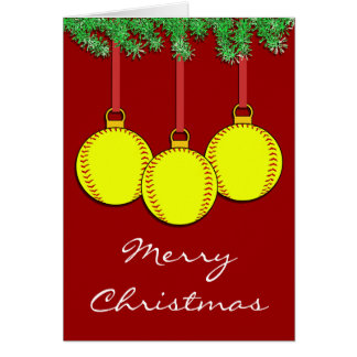 Christmas Fastpitch Softball Card