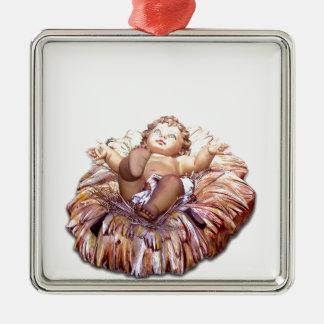 Christmas favor Baby Jesus in Bethlehem Metal Ornament