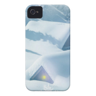 christmas favor snowing houses iPhone 4 case