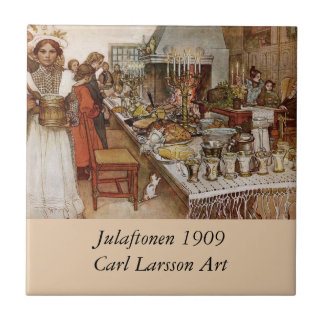 Christmas Feast Julaftonen 1909 Small Square Tile
