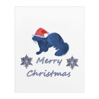 Christmas Ferret Acrylic Print