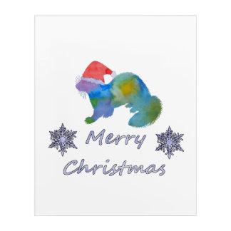 Christmas Ferret Acrylic Wall Art