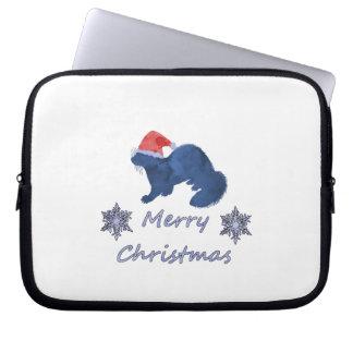 Christmas Ferret Laptop Sleeve