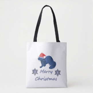 Christmas Ferret Tote Bag