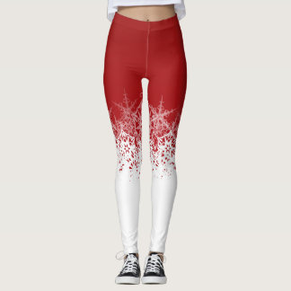 Christmas Festive Snowflake Leggings