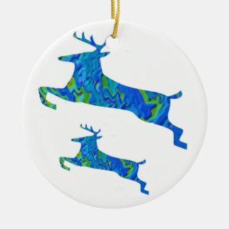 Christmas Fever - Santa Everywhere Round Ceramic Decoration