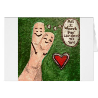 Christmas Finger Puppets Card