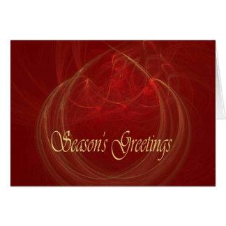 CHRISTMAS FIRE ~ Season's Greetings Card