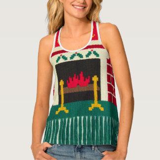 Christmas Fireplace Vest Crochet Print All Over