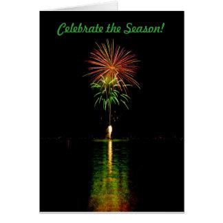 Christmas fireworks card