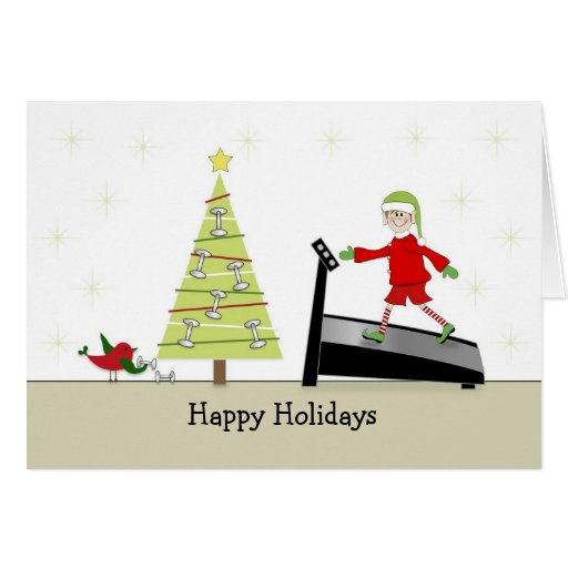 Christmas Fitness Greeting Card Happy Holidays Zazzle
