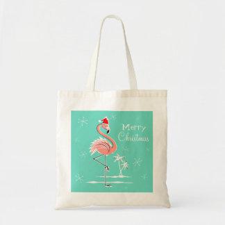 Christmas Flamingo Merry Christmas tote bag