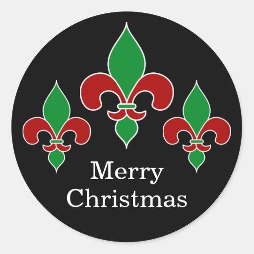 Christmas Fleur de Lis Stickers
