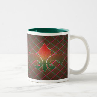 Christmas Fleur de Lis Two-Tone Mug