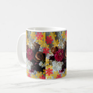 Christmas floral bouquet mug