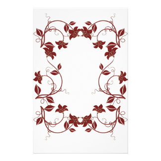 Christmas Floral Custom Stationery
