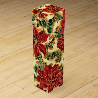 Christmas Floral Holiday wine box