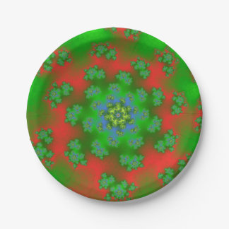 Christmas Floral Sprinkles Small Paper Plates
