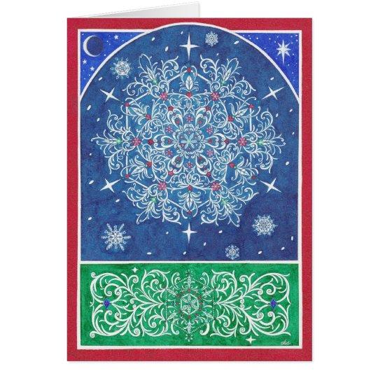 Christmas ~ Florentine Snowflake Greeting Cards