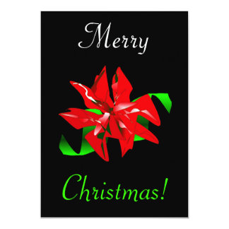 "Christmas Flower 5"" X 7"" Invitation Card"