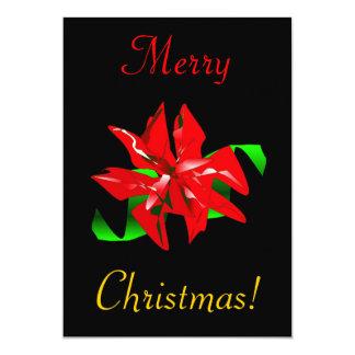 Christmas Flower 5x7 Paper Invitation Card