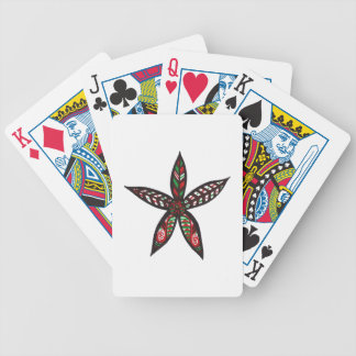 Christmas Flower Bicycle Playing Cards