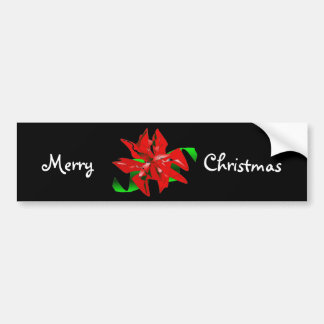 Christmas Flower Bumper Sticker - Customizable Bumper Stickers