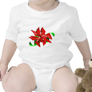 Christmas Flower Customizable Baby Creeper