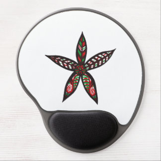 Christmas Flower Gel Mouse Pad