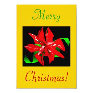 "Christmas Flower III 5"" X 7"" Invitation Card"