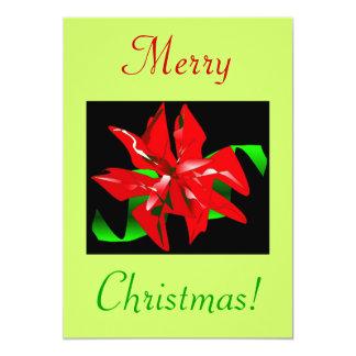 "Christmas Flower IV 5"" X 7"" Invitation Card"