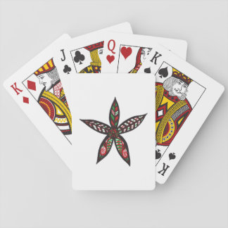 Christmas Flower Playing Cards