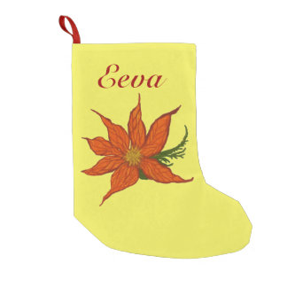 Christmas Flower Small Christmas Stocking