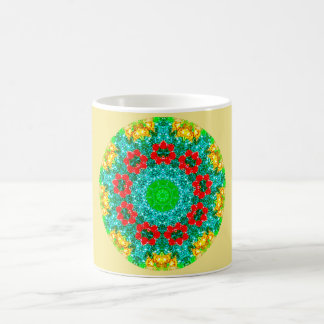 Christmas Flowers Fractal Coffee Mug