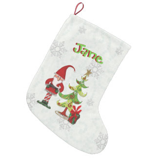Christmas Folk Whimsey 3D Lettering PERSONALIZED