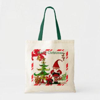 Christmas Folk Whimsey GIFT Tote Bag