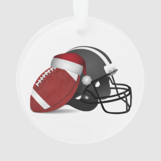 Christmas Football And Helmet