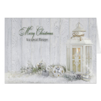 Christmas for Manager Card