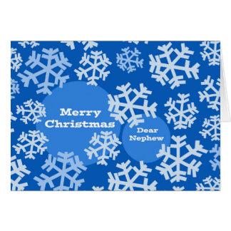 Christmas for Nephew, Snowflakes Modern Design Card