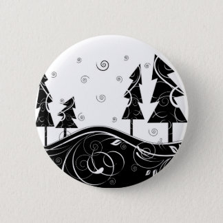Christmas Forest 6 Cm Round Badge