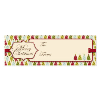 Christmas Forest Gift Tag Business Cards