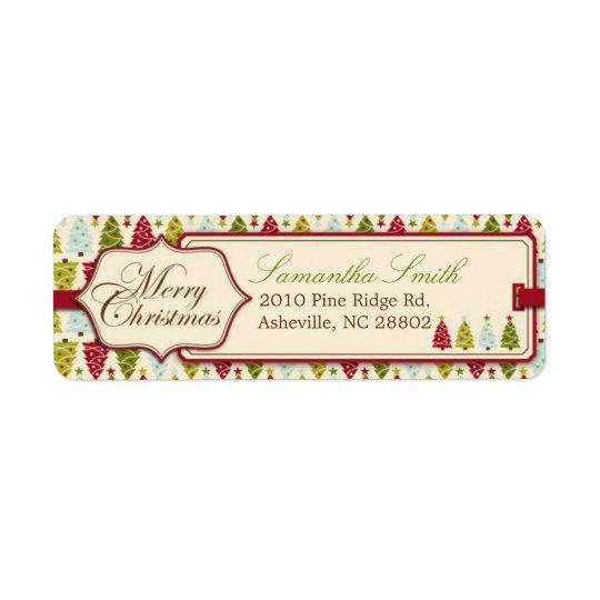 Christmas Forest Return Label