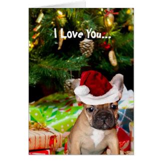 Christmas French Bulldog Card