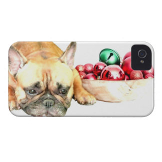 Christmas French Bulldog Case-Mate iPhone 4 Case