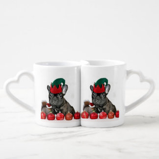 Christmas French Bulldog Coffee Mug Set