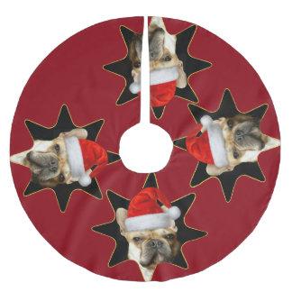 Christmas French Bulldog Dog tree skirt