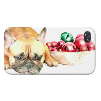 Christmas French Bulldog Case For iPhone 4
