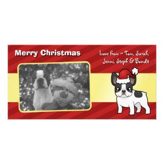 Christmas French Bulldog Photo Greeting Card